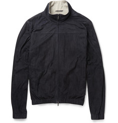 Loro Piana - Cashmere and Silk-Lined Suede Bomber Jacket