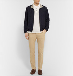 Loro Piana Cashmere and Silk-Lined Suede Bomber Jacket