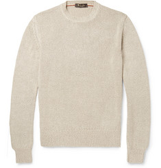 Loro Piana Mélange-Knit Silk Sweater