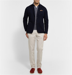 Loro Piana Melange Cashmere, Flax and Silk-Blend Sweater