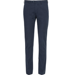 Loro Piana Regular-Fit Washed Stretch-Cotton Trousers
