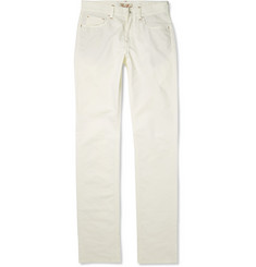 Loro Piana Straight-Leg Stretch-Cotton Trousers