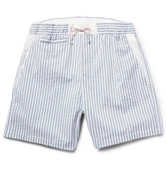 Loro Piana Slim-Fit Seersucker Swim Shorts