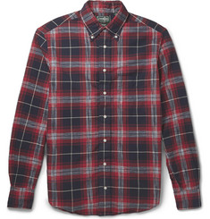 Gitman Vintage Madras Checked Button-Down Collar Cotton Shirt