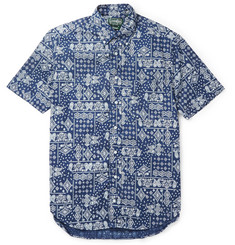 Gitman Vintage Printed Button-Down Collar Cotton Shirt