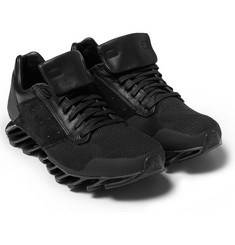 Rick Owens Adidas Springblade Leather and Rubber Sneakers