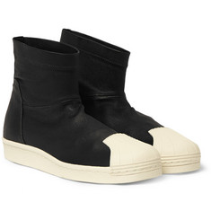 Rick Owens Adidas Leather High-Top Sneakers