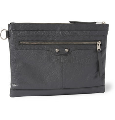 Balenciaga - Creased-Leather Pouch