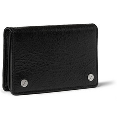 Balenciaga Creased-Leather Cardholder