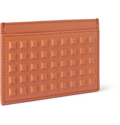 Balenciaga Studded Matte-Leather Cardholder