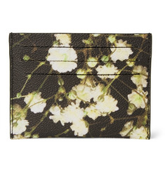 Givenchy Floral-Print Faux Leather Cardholder