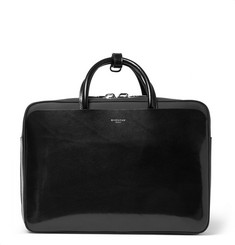 Givenchy Rubber-Panelled Leather Briefcase