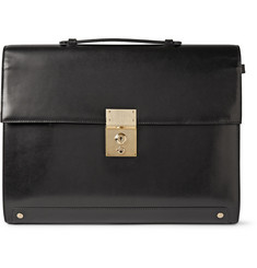 Thom Browne Polished-Leather Briefcase
