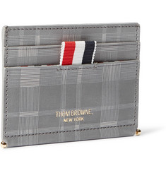 Thom Browne Checked Leather Cardholder