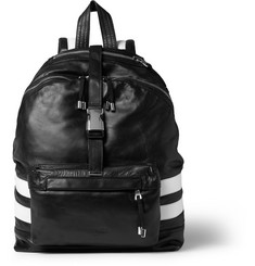Balmain Panelled Leather Backpack