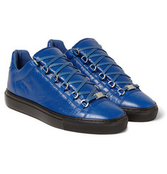 Balenciaga Arena Creased-Leather Sneakers