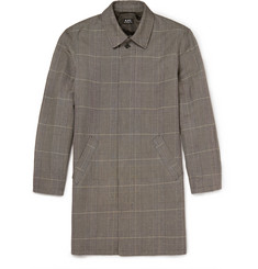 A.P.C. Prince of Wales Checked Linen and Cotton-Blend Raincoat