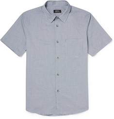 A.P.C. Gingham Cotton Short-Sleeved Shirt