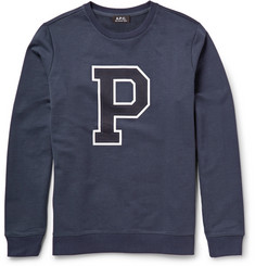 A.P.C. Printed Loopback-Cotton Sweatshirt