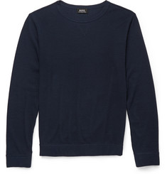 A.P.C. Waffle-Knit Cotton-Blend Jersey T-Shirt