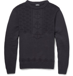 A.P.C. Anchor-Knitted Cotton Sweater