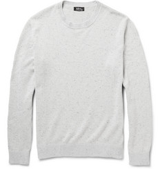 A.P.C. Flecked Cotton and Silk-Blend Sweater