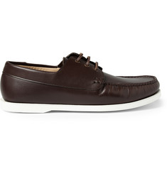 A.P.C. Rubber-Soled Leather Boat Shoes