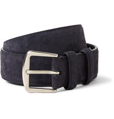 Loro Piana 3.5cm Navy Suede Belt