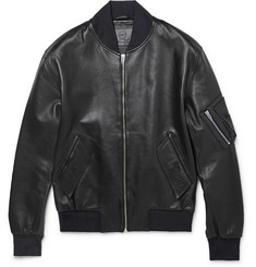 McQ Alexander McQueen Leather Bomber Jacket