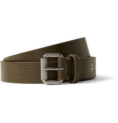 McQ Alexander McQueen Army-Green 3cm Leather Belt