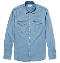 Hentsch Man Benny Washed-Denim Shirt