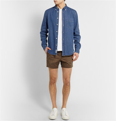 Acne Studios Isherwood Button-Down Collar Lightweight-Denim Shirt
