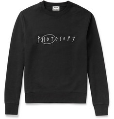 Acne Studios Casey Slogan Printed Cotton Sweatshirt