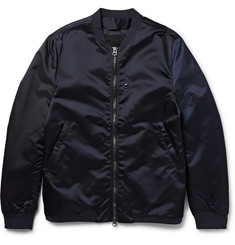 Acne Studios Selo Light Satin-Finish Shell Bomber Jacket