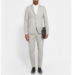 Acne Studios Beige Aaron Slim-Fit Cotton-Blend Poplin Suit Jacket