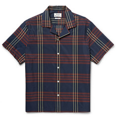 Acne Studios Ody Checked Cotton-Blend Short-Sleeved Shirt