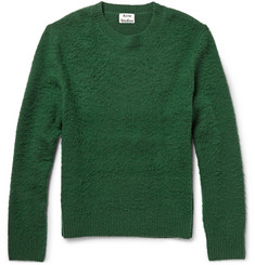 Acne Studios Peele Textured Wool and Cashmere-Blend Sweater