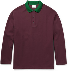 Acne Studios Everet Cotton-Piqué Polo Shirt