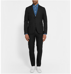 Acne Studios Black Aaron Slim-Fit Cotton-Blend Poplin Suit Jacket