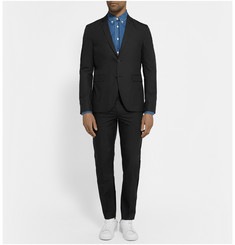 Acne Studios Black Aaron Slim-Fit Cotton-Blend Poplin Suit Trousers
