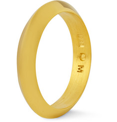 Acne Studios Gold-Plated Sterling Silver Ring