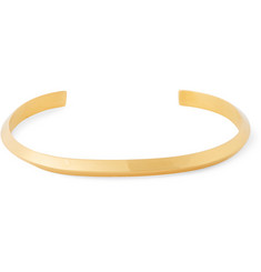 Acne Studios Gold-Plated Sterling Silver Cuff