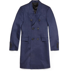 Burberry Prorsum Slim-Fit Linen Overcoat