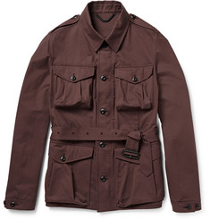 Burberry Prorsum Cotton-Blend Twill Field Jacket