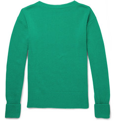 Burberry Prorsum Cashmere-Blend Boat Neck Sweater