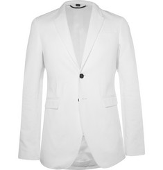 Burberry Prorsum White Cotton-Twill Blazer