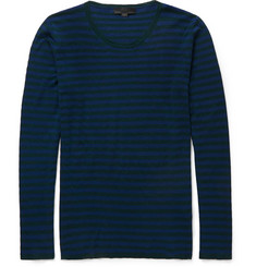 Burberry Prorsum Striped Cashmere and Cotton-Blend Sweater