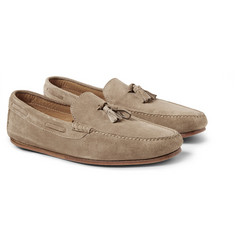 Loro Piana Roadster Walk Tasselled Suede Loafers