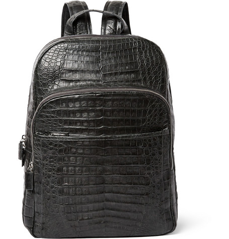 Crocodile Backpack - Charcoal