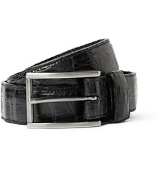 Santiago Gonzalez - 3cm Black Crocodile Belt